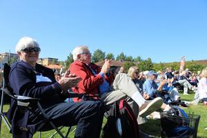 Stig Oskar Hellberg tillsammans med sin fru Maj Hellberg valde att besöka konserten.
