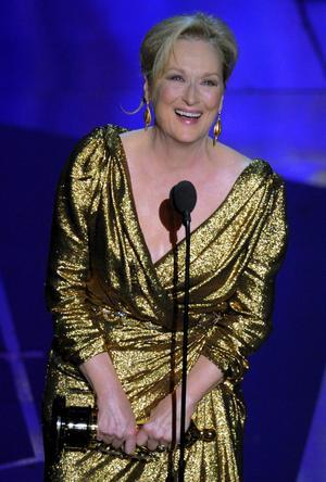 Tredje gången gillt. Meryl Streep vann sin tredje Oscar, den här gången för sin gestaltning av Margaret Thatcher.