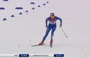 Stina Nilsson var långt efter Kalla i mål.