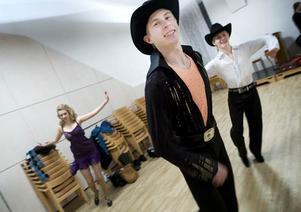 Andreas Zetterström tog VM-guld i linedance i fjol, i år fick han nöja sig med en tredjeplats.