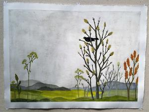 """""""Våglöst land"""" av Josefin Wedel, Leksand."""