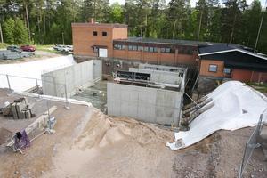Utbyggnad av reningsverket i Övermo är i full gång.