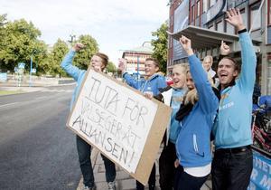 Från vänster: Magnus Wiebe, Jonas Hassgren, Viktor Collin, Amanda Rieem och Claes Mårtén.