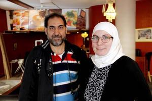 Abdulqader Al-Jumaili och Sanna Larsson, ägarparet.