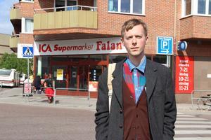 Tom Waldton såg händelsen utanför ICA i centrala Falun.