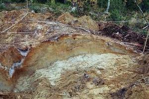 Utgrävningarna i Åkroken slutade med att man kunde åldersbestämma den här fångstgropen till en ålder på ungefär 6000 år.