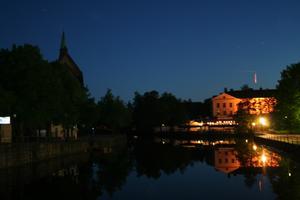 Svartån delade Örebro i en mörk och en ljus del.