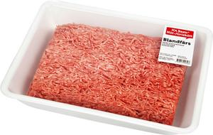 ICA återkallar blandfärs efter att salmonellabakterier har hittats i i färsen. Förpackningen på bilden är en av de återkallade produkterna.