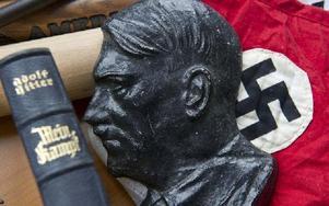 Min kamp, Adolf Hitler och naziflaggan. Foto: Torsten Silz