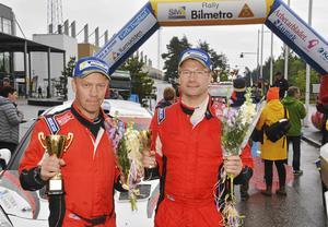Thomas Thunström (till höger på bilden och Jörgen Lindahl slutade trea. En tjuvstart förutan hade man vunnit…