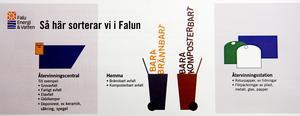 Information. Falu Energi & Vatten går ut med information till samtliga hushåll i Falun om de nya soprutinerna, som börjar gälla från den 23 april.