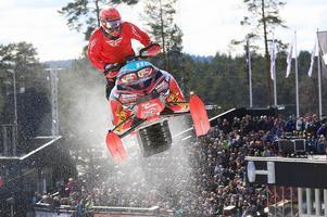Emil Sundvisson trivdes på banan på Lugnet och tog en fin andraplats i pro open klassen.