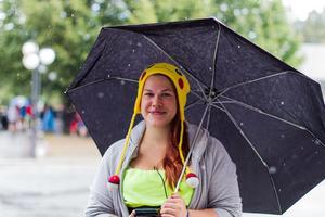 Camilla Dahlin från Timrå hade tagit sig till Sundsvall för att delta i PokéWalken.
