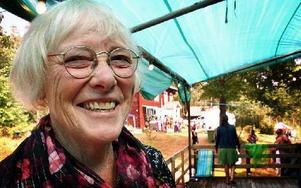 Margareta Söderberg gläds åt at Vildrosfestivalen räddas genom att alla medverkande efterskänker sina gager.FOTO: KERSTIN ERIKSSON/ARKIV