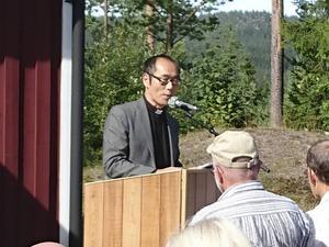 Kyrkoherde Persman predikade över dagens tema