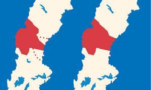 Varianter på en mittregion. Illustration: Ulla Granqvist