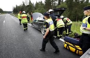 De tre i bilen fördes till Östersunds sjukhus med ambulans.