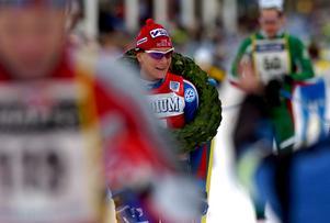 Elin Ek vann damklassen i Vasaloppet, knappt fem minuter efter herrsegraren Oskar Svärd. Foto: Johan Solum