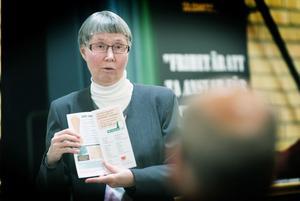 Förbundsordföranden Lena Larsson blev besviken över den dåliga uppslutningen.