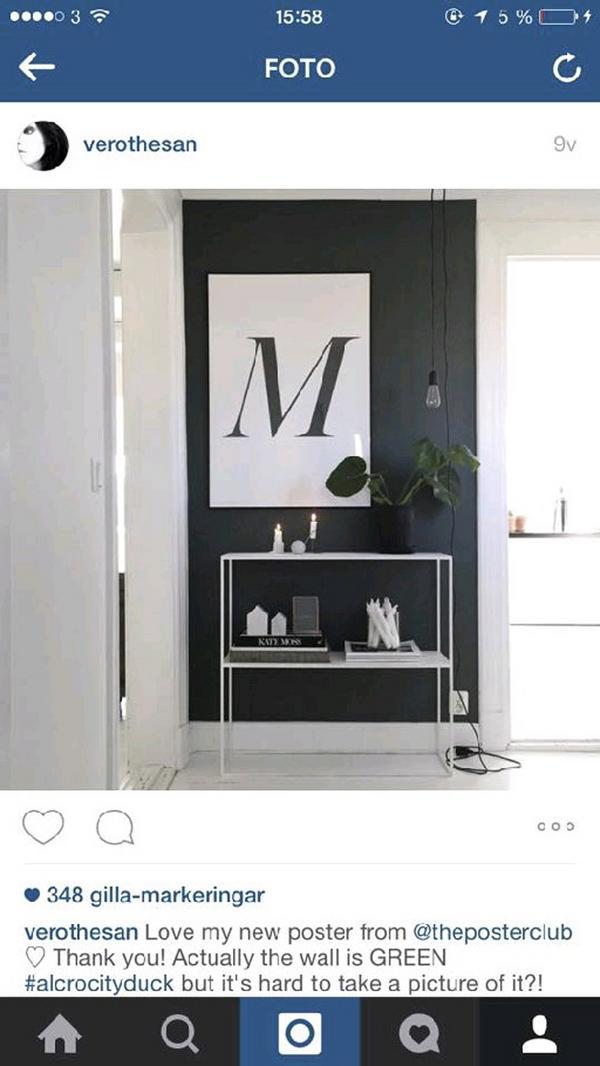 En av Veronicas mest gillade bilder på Instagram är från hallen.