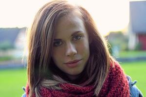 Vann lotteriet. Jennifer Toft är Askersunds lucia 2011. PRIVATBILD