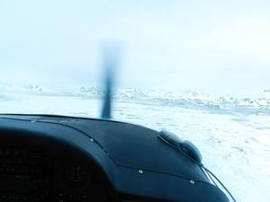 En mäktig vy när Grönland blir synligt.