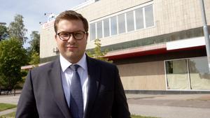 Alexej Hidalgo, ägare till Citygallerian i Fagersta.
