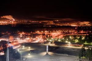 2011:as sista bild över Falun? Utsikten från Lugnet var som alltid spektakulär.