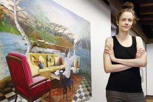 Samira Englund, konstnär i Växbo, tillbringade sina somrar sedan 1990 som granne till Gunnar Greiber i Grängsjö. Arkivbild