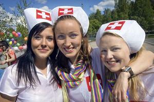 Från omvårdnadsprogrammet kom Frida Canebo, karin Collin och Anne Lusth.