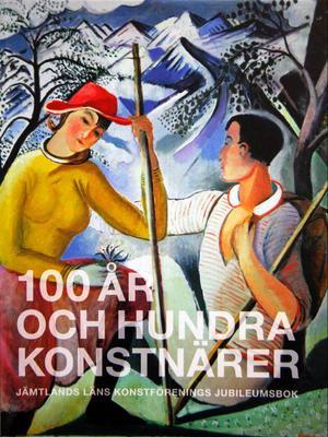 """Nyvalde ordföranden Tore Brännlund passade på att spela sin egen nyskrivna pjäs om konstens roll i dag och för 100 år sedan.Leander Engströms """"Rast under högfjällsbestigning"""" från 1918 pryder omslaget på konstföreningens nya tjocka bok om konsten  i länet de senaste 100 åren."""