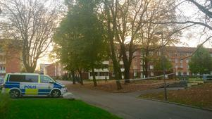Här på Malmplan i Örebro inträffade rånet.