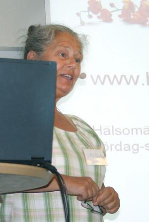 Projektledare Ulla Bergström talade om nätverk som lever vidare efter projektets slut.