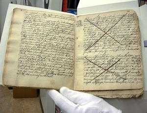 Rannsakningsprotokoll fört under 1600-talets trolldomsprocesser i Västernorrland. Förvaras på Länsmuseet Murberget i Härnösand.