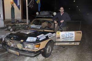 Remco van Der Zon tycker att det känns bra att köra Saab genom Sverige.
