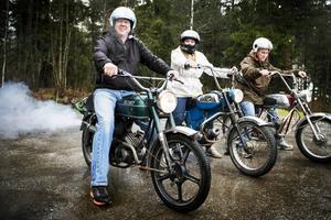 Lasse Åldemo, Viktoria Åldemo och Björn Åberg vet hur de ska ta sig fram i sommar, på bilden kör de en Rex, Dakota och en Crescent E-type.
