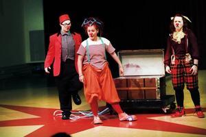 CLOWNER. Cirkusgymnasiet i Gävle hade på fredagen premiär på sin årliga julföreställning.