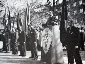 Nazisterna talade och demonstrerade öppet på gatorna i Sverige under kriget, om judefaran och den ariska rasens överlägsenhet.