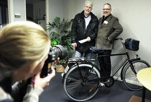 Det gick också att fotografera sig tillsammans med Ljusnans reporter Peter