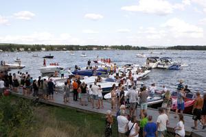 Friluftsliv och rekreation blir centrala områden i den första översiktsplanen för Runn med omnejd. Här en bild över båtliv vid Främby udde i Falun. Foto: Fredric Gustafsson, Arkivbild