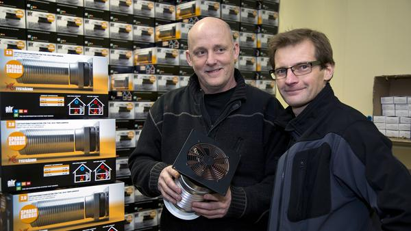 Airmove flyttar luft, Lars Östlin, till vänster, vd, och Jörgen Pettersson, logistikansvarig.