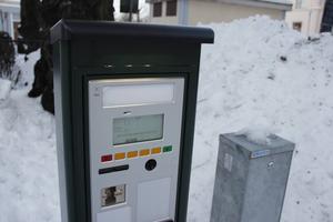 En av de nya automaterna har placerats ut på Ruddamsgatan vid korsningen mot Norra Centralgatan.