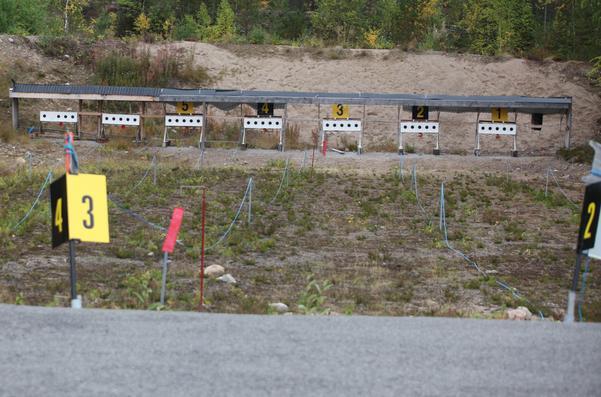 Skjutbanorna vid skidstadion i Sveg