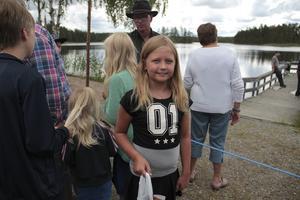 Matilda Berg var glad för sin fisk.