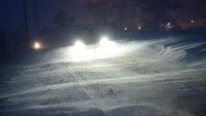 Omkring en decimeter snö väntas falla under onsdagen.