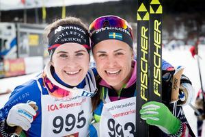 Ebba Andersson segrade i damklassen i årets Fjälltopplopp, Anna Haag blev tvåa.