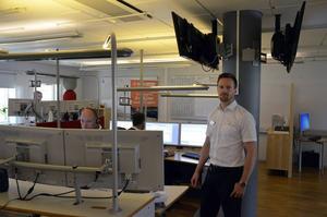 Jocke Erixon, platschef på avdelningen för Jourteletjänster.