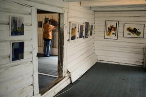 Inne i ladugården, vid Ateljé Blåtorp i Medskogsbron, hänger Eva Sollander, Barbro Bäck och Gunilla Englund-Backlund sin konst. I själva ateljén finns Lena Backmans kost.