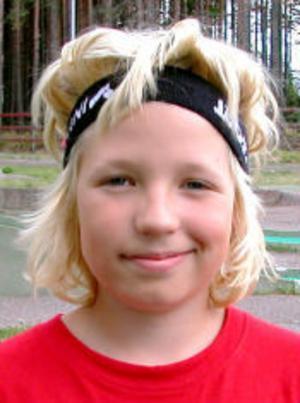 Fredrik Ottinger, 13 år, Helsingborg:—Jag har spelat förut, men börjat med hockey istället. Har varit här i Timrå på Hockeyskolan.
