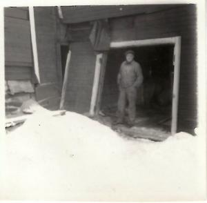 Här befann sig Gunnar Hedin dynamitfabriken exploderade 11.08 den 1 februari 1955
